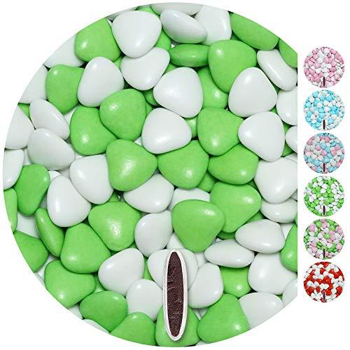 n MIX 1kg weiß-hellgrün gl. Gastgeschenke Hochzeit Hochzeitsmandeln dragees ()