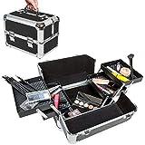 Valigetta make-up trucchi unghie beauty case valigia borsa bauletto estetista NERO