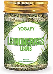 YOGAFY - Organic Lemongrass Herbal Tea Leaves I Boost Metabolism Used for Detox |100g - 100 Cups |