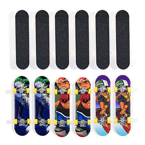 Comius Fingerskateboard, 12 Pcs Mini Skateboard & Tech Deck Finger Spielzeug Finger Miniboard - Ideal für Kinder (Spielzeug Mini Skateboard)