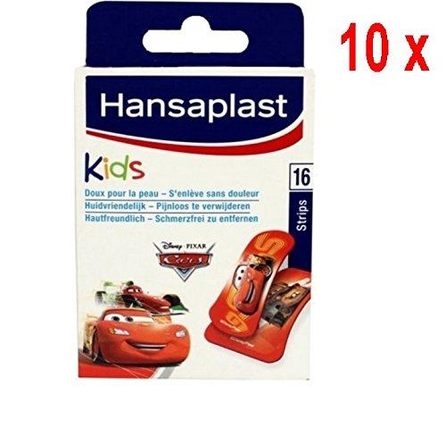10 x Hansaplast Pflaster - Kinder Disney Cars - 16 Streifen