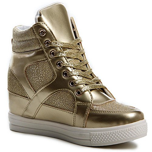topschuhe24, Sneaker donna Oro (oro)
