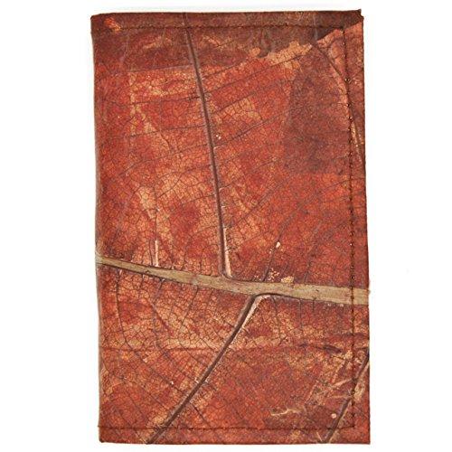 ECOMONKEY® ♻ Notizbuch / Notizblock + veganes Leder aus Blättern (Kunstleder) + vegan + ohne linien / blanko + Rot