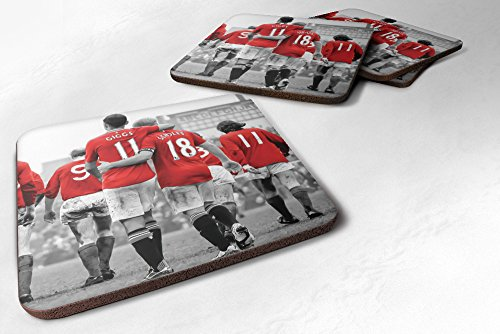 Manchester United Legends MUFC Man Utd Giggs Scholes Best Coasters (Set Of 2) Tea Coffee Cup Mug Coaster - iCaseCreative