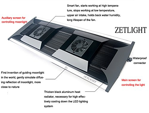 Aquarium LED Beleuchtung Zetlight AQUA Serie, moderne Aquariumbeleuchtung für Garnelen oder Nanobecken (ZA-1200 Süßwasser) - 3