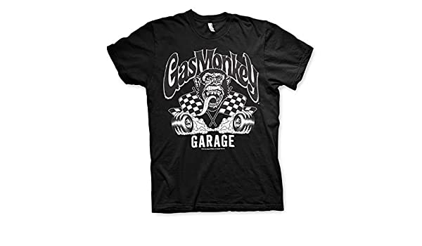 Burning Wheels T-Shirt Maille T Shirt GMG Officielle Gas Monkey Garage Officially Licensed
