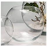 Sandra Rich Kugelvase, Glaskugel Globe H. 20,5cm D. 25cm Transparent Rund