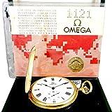 Orologio Uomo Vintage Meccanico Omega Oro 18KT Elegante Lusso Revisionato Da Tasca