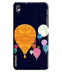 Omnam Hot Air Ballons Flying In Sky Printed Designer Back Cover Case For HTC Desire 816