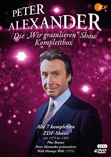 Die Peter Alexander 'Wir gratulieren' Show – Komplettbox (Alle 7 ZDF-Shows plus Disneys Welt) – Fernsehjuwelen [4 DVDs]