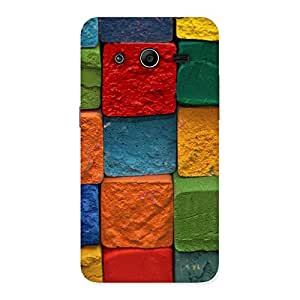 Stylish Color Cubes Multicolor Back Case Cover for Galaxy Core 2
