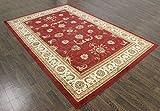 Tradicional persa alfombra de grosor medio, 9,8x 6,6rojo Oriental Rugs alfombra a2zrug