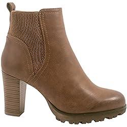 Elara Ankle Boots | Botines para mujer de moda | Tacón de bloque Plateau | Chunkyrayan, color, talla 40 EU