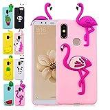 LA-Otter Housse Etui Coque Apple iPhone X XS Flamant Rose Ultra Fine Slim Mince Silicone TPU Gel Bumper avec Motif 3D Kawaii Case Cover Fille Femme Antichoc