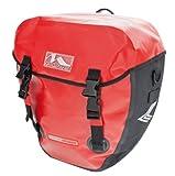 M-Wave Gepäckträgertasche Alberta, red, 2 x 20 l