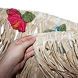 BELLE VOUS Hawaii Deko Tischrock 9ft - Luau Party Deko (L274 x H77cm) mit bunten Hibiskus Blumen - Luau Tischdeko, Tischrock aus Bast für Karibik Deko, hawaiianische Party, Geburtstag und Grillparty - 4