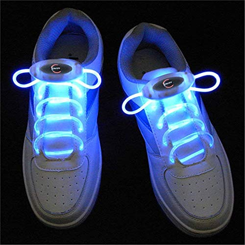 XiuZP 1 Paar 80 cm Glow Schnürsenkel LED Sport Schnürsenkel Glow Stick Blinkt Neon Leuchtenden Schnürsenkel Blau (Color : Blue)