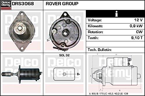 DELCO REMY DRS3068 Motorino d'avviamento