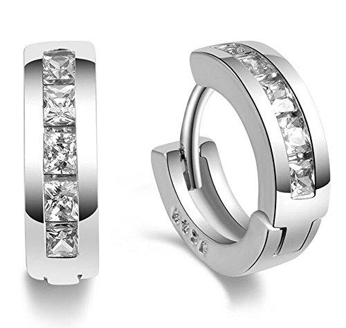 Hosaire Ohrringe Mode Runde Diamant Anhänger Damen Ohrring für Geburtstag Geschenk (Ohrringe)