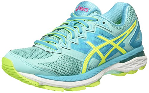Asics GT-2000 4, Women Training Running, Multicolor (Aruba Blue/Safety Yellow/Aquarium), 3 UK (35.5 EU)