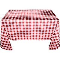 (230*150cm) Mantel a Cuadros Cuadrado Rojo y Blanco Rectangular para Picnic Decorar Mesa de Comedor Hogar Restaurante