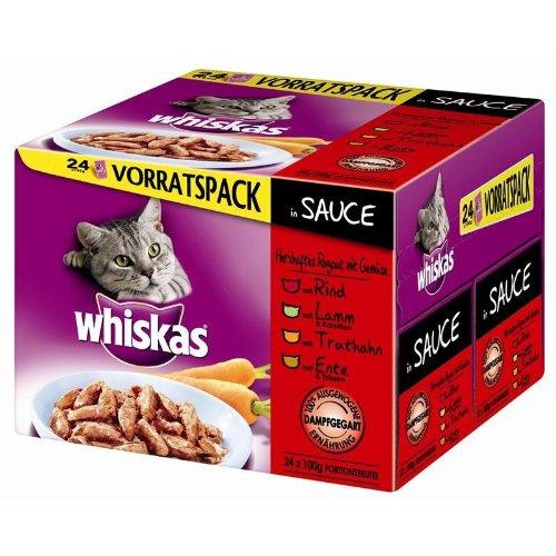 Whiskas | Multipack Herzhaftes Ragout | 2 x 24 x 100 g