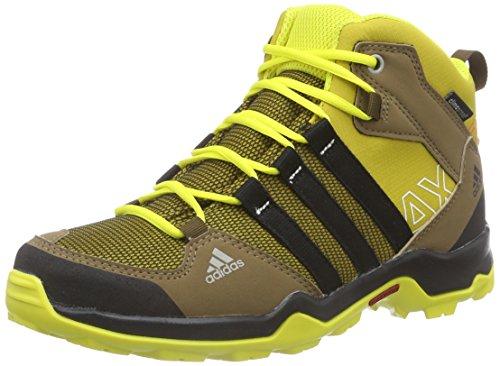 adidas AX2 Mid CP, Unisex-Kinder Outdoor Fitnessschuhe, Mehrfarbig (Raw Ochre F15/Core Black/Bright Yellow), 35 EU