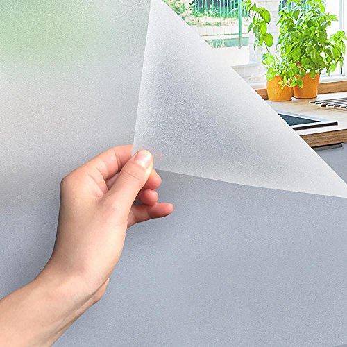Yahee Fensterfolie Dekorfolie Sichtschutzfolie Milchglasfolie Folie für Badezimmer, Türen, Fenster selbstklebend 300*60mm
