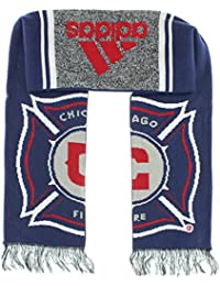 Adidas Mens Chicago Fire MLS 15 Draft Scarf Navy Blue One Size
