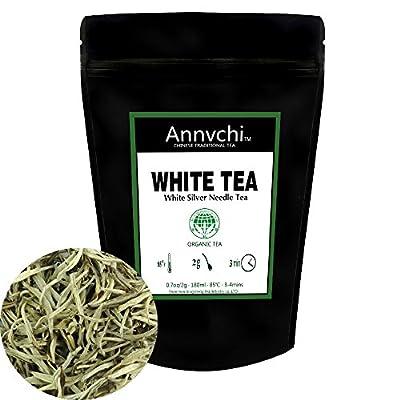 Thé Blanc Lâche Feuille (28 Tasses) - Aiguilles D'argent Thé Chinois - Silver Needle White Tea - Antioxtdants Puissants - 56.6g