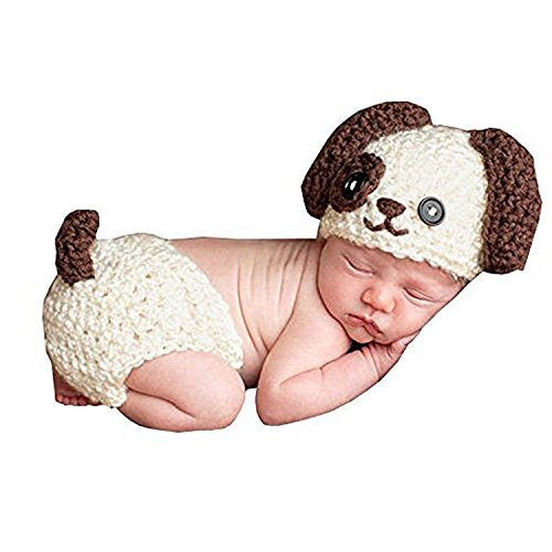 TOOGOO MSFS Baby Baby Crochet Fotografia Fotografia Puntelli Handmade Baby Hat Pannolino Outfit cane