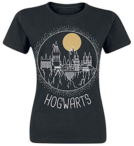 Harry Potter - Rund Hogwarts - Offizielle Damen T-Shirt - Schwarz, XL