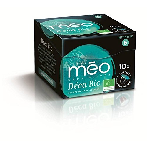 Méo - Organische Entkoffeinierte Kaffeekappen 53G -Café Capsules Décaféiné Bio 53G - Preis Pro...