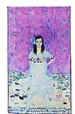 Prettystern P757 - 160cm Gustav Klimt stile Liberty reproduzione opera d'arte sciarpa di seta - Mada Primavesi