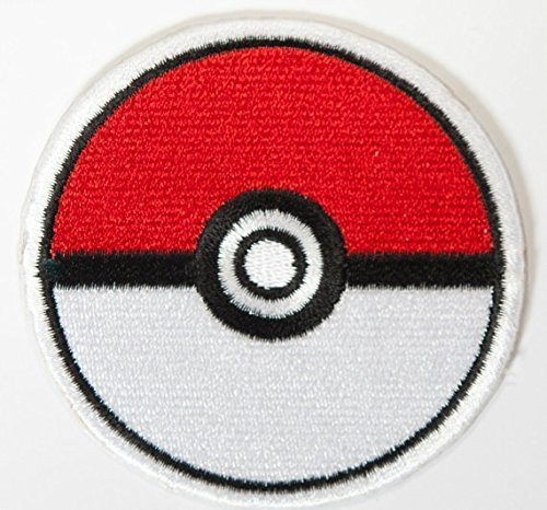 Pokeball Pokemon Patch Embroidered Iron on Badge Applique Costume Fancy Dress Master Ball Pokémon Cosplay Pokeball by Premier Patches (Premier-nylon-leine)