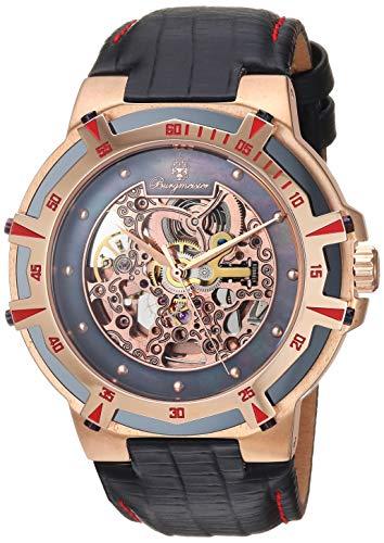 Burgmeister Armbanduhr für Herren mit Analog Anzeige, Automatik-Uhr und Lederarmband - Wasserdichte Herrenuhr mit zeitlosem, schickem Design - klassische Uhr für Männer - BM235-902 Rochester