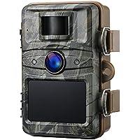 IceFox Jagdkamera Gartenkamera mit 44 schwarzen LEDs, Infrarote 20m Nachtsicht, IP66 Wasserdichte Überwachungskamera, 1080P Full HD 2.4″ LCD Tierbeob achtungskamera