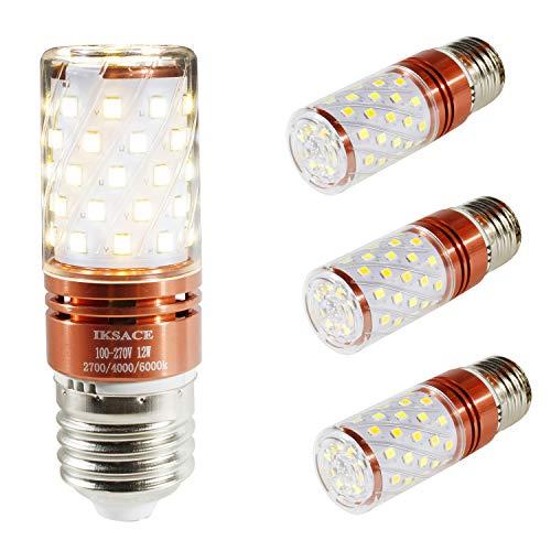 Birne Mais Glühbirne LED Candelabra Glühbirne ändern, Cool White / Warm White / Daylight Weiß 3 Farbe in 1,8 W Glühlampenäquivalent, E27 Base 4 Packs ()