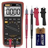 Digital Multimeter,Thsinde Auto-Ranging Digital Multimeter with Alligator Clips, AC Voltage Tester,Voltage Alert, Amp/Ohm/Volt
