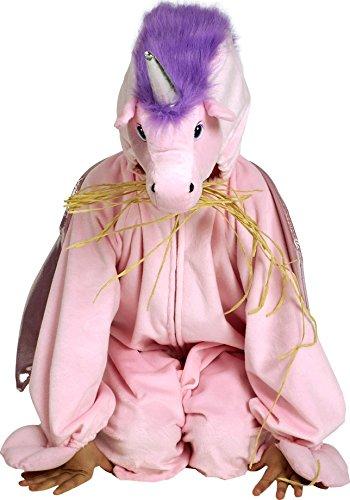 Einhorn Plüschoverall Kinderkostüm rosa-lila 104/116 (4-6 (Ziel Einhorn Kostüm)