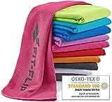Fit-Flip Kühlendes Handtuch 100x30cm, Mikrofaser Sporthandtuch kühlend, Kühltuch, Cooling Towel, Mikrofaser Handtuch| Farbe: