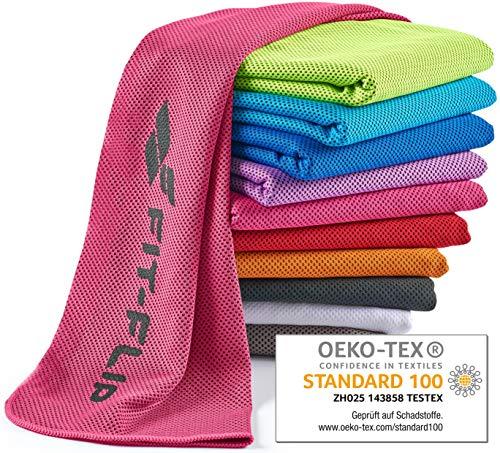 Fit-Flip Kühlendes Handtuch 100x30cm, Mikrofaser Sporthandtuch kühlend, Kühltuch, Cooling Towel, Mikrofaser Handtuch  Farbe: pink, Größe: 100x30cm