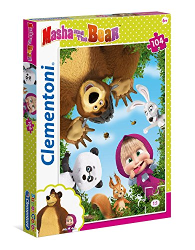 Clementoni- Masha e Orso Supercolor Puzzle, 104 Pezzi, 27078