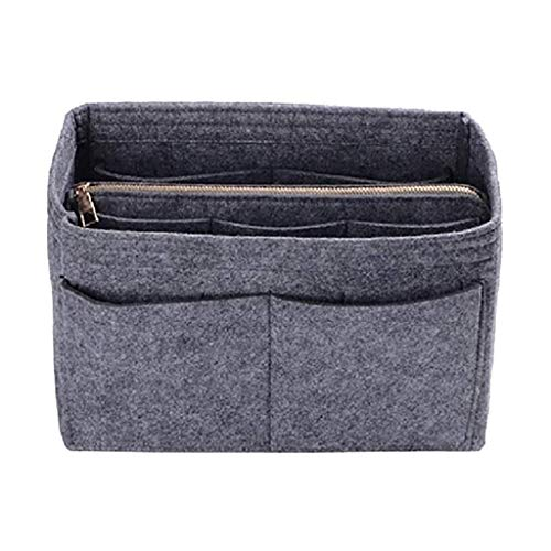 Zolimx Fühlte Mich einfügen Tasche Reißverschluss Multi Tasche Handtasche Organizer Inhaber Make up Reisen -