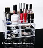 GTC Acrylic Jewellery & Cosmetic Organizer Display Boxes Double Layer Beauty Vanity Jewellery Clear Acrylic Stand and Organizer Drawer (IT N - 9126)
