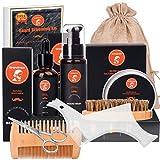 Beard Grooming Kit for 10 in 1 Beard Care Unique Gifts for Men, Beard Oil, Beard Brush, Beard Comb, Beard Balm, Beard Shampoo, Modelling Comb & Mustache Scissors Beard Growth & Trimming Kit