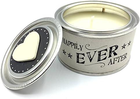 Cadeau Cadeau Cadeau de mariage – Mr et Mme Tin Bougie avec cœur en bois East of India B00WFVITY6 31c5d2