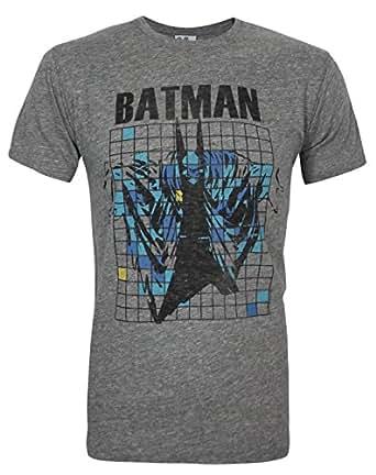 Junk Food Batman Grid Men's T-Shirt (L)