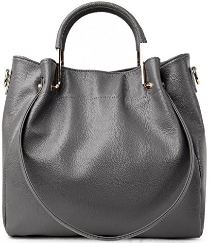 Faston, Borsa a mano donna Large Grau
