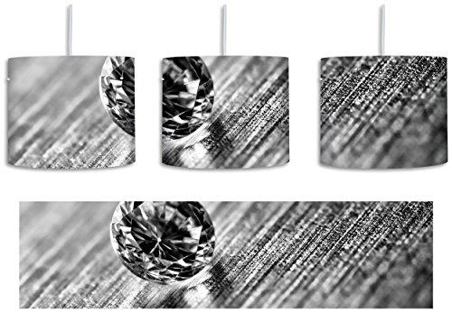 Beleuchtung Reiner Diamant (Monocrome, kleiner reiner Diamant inkl. Lampenfassung E27, Lampe mit Motivdruck, tolle Deckenlampe, Hängelampe, Pendelleuchte - Durchmesser 30cm - Dekoration mit Licht ideal für Wohnzimmer, Kinderzimmer, Schlafzimmer)